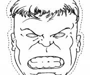 Coloring pages Avengers Hulk Mask