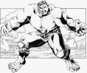 Coloring pages Chopping hulk