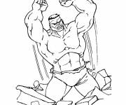Coloring pages Hulk and corpse