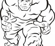 Coloring pages Hulk and vector