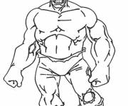 Coloring pages Hulk easy