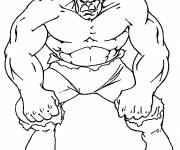 Coloring pages Hulk in black and white