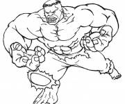 Coloring pages Hulk red