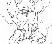 Coloring pages Hulk simple