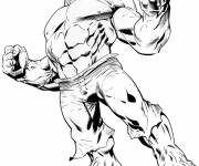 Coloring pages Stylized Avengers Hulk