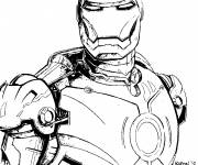 Coloring pages Cutting iron man