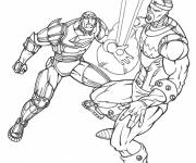 Coloring pages Iron Man and the Combat