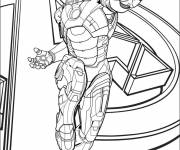 Coloring pages Iron Man at the cinema