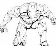 Coloring pages Iron Man Avengers