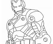 Coloring pages Iron Man easy