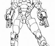 Coloring pages Iron Man equipped
