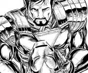 Coloring pages Iron Man in vector