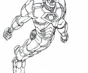 Coloring pages Iron Man the super hero