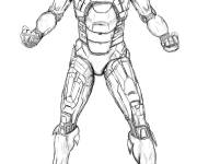 Coloring pages Realistic Iron Man