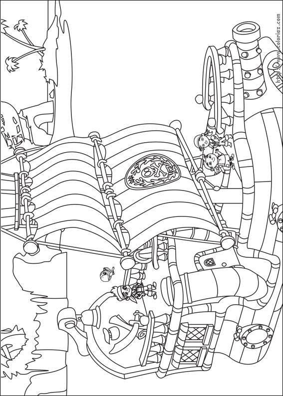 Free coloring and drawings Cartoon jack and pirates Coloring page
