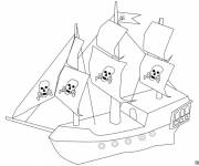 Coloring pages Easy Pirate Ship