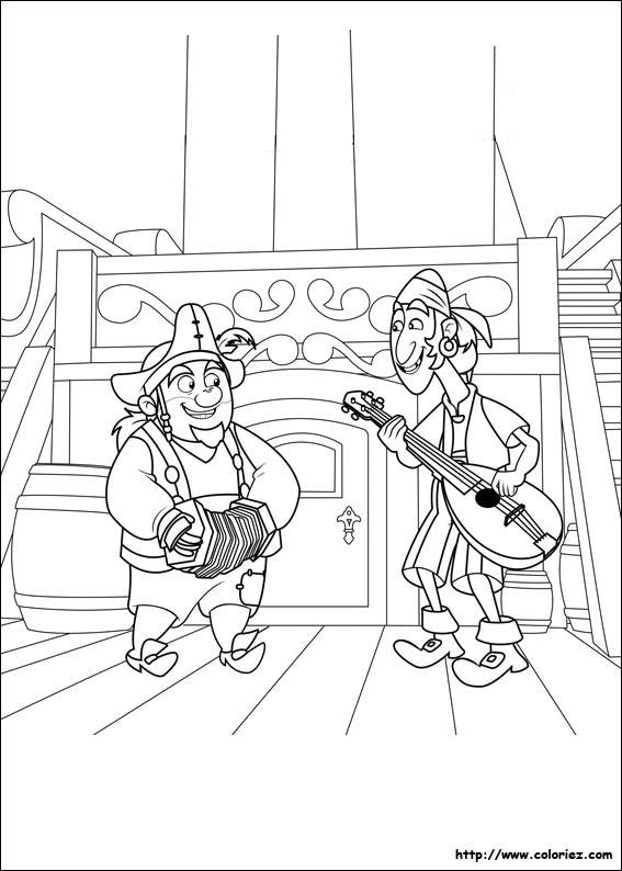 Free coloring and drawings Funny Pirates Coloring page