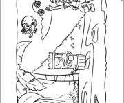 Coloring pages Image of Jack and the Pirates