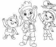 Free coloring and drawings Jack and his friends greet you Coloring page