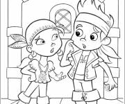 Free coloring and drawings Jack and Izzy Coloring page
