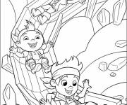 Free coloring and drawings Jack and the Little Pirates having fun Coloring page