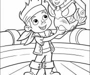 Coloring pages Jack and the Mermaid