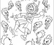 Free coloring and drawings Jack and the Pirates and the living seabed Coloring page