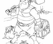 Coloring pages Jack and the Pirates And Treasure Island