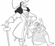 Coloring pages Jack and the Pirates Captain Hook