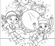 Free coloring and drawings Jack and the Pirates dance Coloring page
