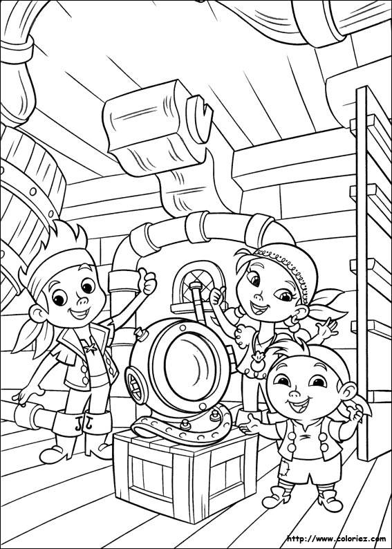 Free coloring and drawings Jack and the Pirates for The Little Ones Coloring page