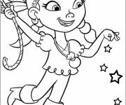 Free coloring and drawings Jack and the Pirates Izzy stylized Coloring page