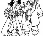 Coloring pages Jack and the Pirates of the Caribbean Movie