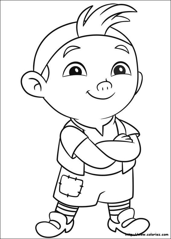 Free coloring and drawings Jack and the Pirates The Curly Coloring page