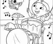 Free coloring and drawings Jack and the Pirates the Curly Musician Coloring page