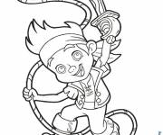 Coloring pages Jack and the Pirates vector