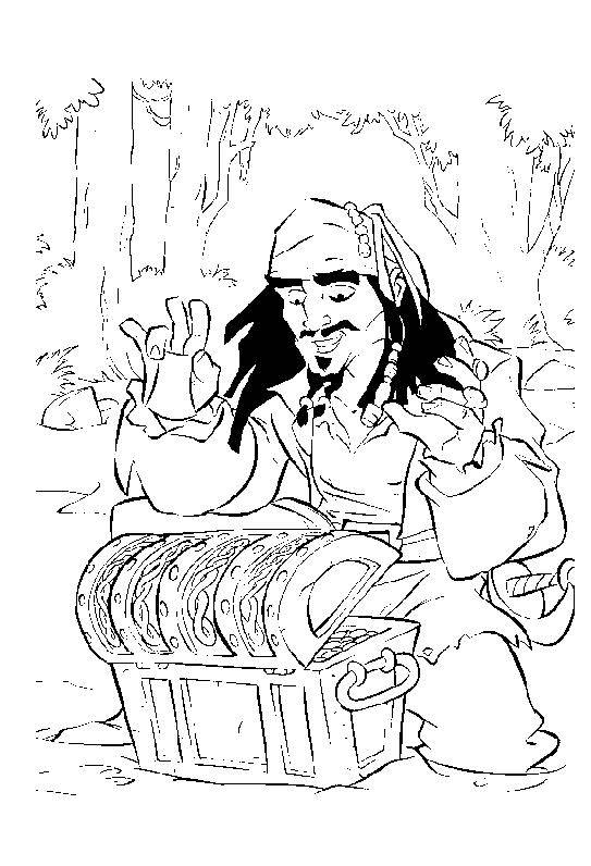 Free coloring and drawings Jack finds The Treasure Coloring page