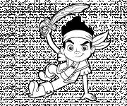 Coloring pages Jack the Little Pirate carries his Sword