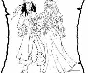Coloring pages Jack the Pirate and The Princess