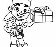 Coloring pages Jack the Pirate carries a Gift