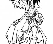 Coloring pages Portrait of Jack the Pirate