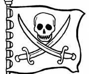 Coloring pages The Pirate Flag