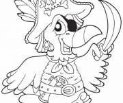 Coloring pages The Pirate Parrot