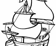 Free coloring and drawings The Pirate Ship Coloring page