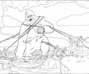 Coloring pages King kong captured