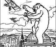 Coloring pages King kong coloring