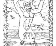 Coloring pages King Kong in color
