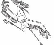 Coloring pages crane in Kung Fu Panda