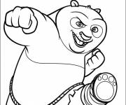 Coloring pages Easy drawing of Po the panda