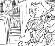 Coloring pages Kung Fu Panda a mission